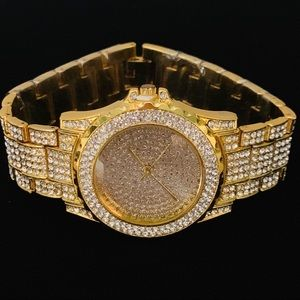 Other - Gold Iced Out Presidential Watch